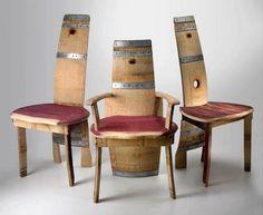 Sedie ricavate da botti di vino