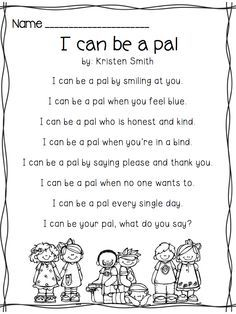 short poems for children with images to share - Google Search More