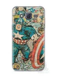 Capa Capinha Samsung J5 Capitão América Comic Books #1