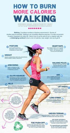How To Burn More Calories Walking! Staying mindful can help your efforts to be more effective. #walking #exercise