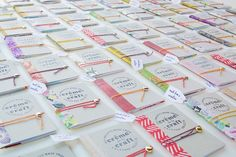 My DIY Cereal Box Notebook Business Cards - Crème de la Craft