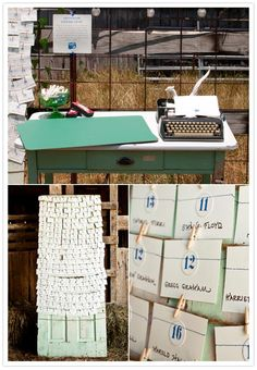 I need an old typewriter for our wedding. This is exactly what we would like to do.