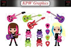 Little Rock Star Girls Clipart Set in a PNG format. Personal & Small Commercial use Girls Clips, Girl Clipart, Star Girl, Little Rock, Clipart Images, School Projects, Clip Art, Scrapbook, Invitations