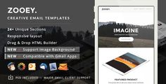 Zooey - Supports Image Background & Gmail App   Builder Access by eeemon Introduction of Zooey Creative Email Template   Builder AccessZooey Creative E-newsletter , responsive email template with the coolest hipster and vintage style is one the best HTML email templates for online businesses to promo