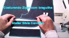 COSTURANDO ZIPER COM BRAGUILHA