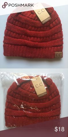 C.C. Beanie. - Brand new. - Red color. - 🚫trades. - PRICE FIRM unless bundled. - Reasonable offers on bundles considered. - Lowball offers will be ignored. Accessories Hats