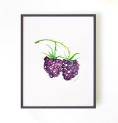 Raspberry watercolor painting, Kitchen Art, Fruit Art, Nature print, Food artwork, Kitchen wall art, Purple berry, 8x10 Buy 2 Get 1 Free by colorZen on Etsy https://www.etsy.com/listing/167013224/raspberry-watercolor-painting-kitchen