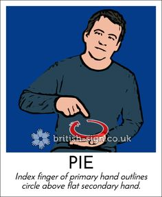 Today's #BritishSignLanguage sign is PIE #PieDay