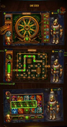 A new exciting slot game in steampunk style. Itcalls Twist the Gear. The core of the game is to build a robot whichwill help a professor to defense its invention fromenemy which try to stole an energy source. User helps the professor to collect all&