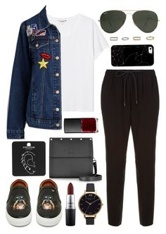 Untitled #599 by clary94 on Polyvore featuring polyvore Monki Alexander Wang Givenchy Jean-Paul Gaultier Olivia Burton Topshop Ray-Ban Casetify MAC Cosmetics NARS Cosmetics fashion style clothing