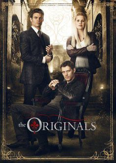 The Originals. Family above all. Blood is everything. Mikaelson siblings - pictured: Elijah, seated Klaus, Rebekah. via Twitter / NikMikaelson.