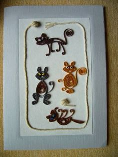 Naughty Cats - Quilled Creations Quilling Gallery