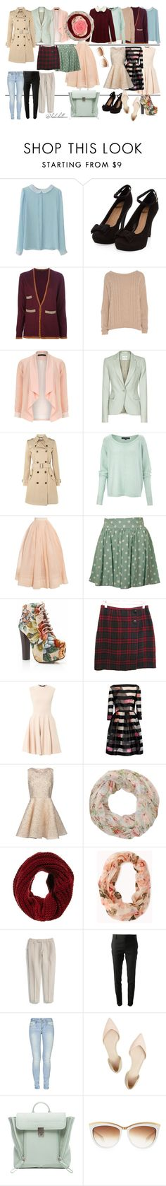 """""""Why"""" by holabellaa ❤ liked on Polyvore featuring Stine Goya, AX Paris, Dorothy Perkins, Reiss, Hallhuber, French Connection, Martin Grant, MINKPINK, Alexander McQueen and Blumarine"""