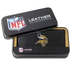 Minnesota Vikings Embroidered Leather Checkbook Cover