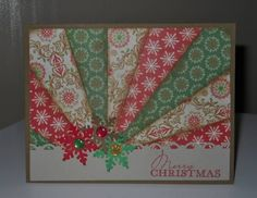 Sentiment-SU Contemp Christmas   Paper: Miscelaneous Christmas Paper. SU Soft Suede and Sahara Sand   Ink: Momento Lady Bug,Frayed Burlap Distressed Ink   Accessories: Martha Stewart Snowflake Punch, Scallop Trim Border Punch, Glitter Ahesive Dots   Techniques: Starburst Card