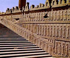 Stairway of Apadana Palace, some of the best preserved elements of Persepolis