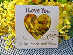Rustic Wedding I Love You to the Moon and back  by WildFireFlies,