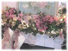 SHABBY CHIC & VICTORIAN CHRISTMAS IDEAS   Romantic Christmas Bedroom, These photos are from previous Christmases ...