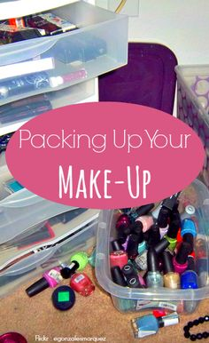 Your lipsticks need to be kept at a different temperature than the rest of your make-up. Here are more tips on packing up your make-up: