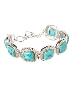 Look what I found on #zulily! Turquoise & Sterling Silver Bracelet #zulilyfinds