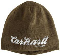 Carhartt Men's Script Graphic Knit Hat, Army « Impulse Clothes
