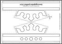 print- en knipvel/kleurplaat Kroon - A3 formaat Koningsspelen 2014
