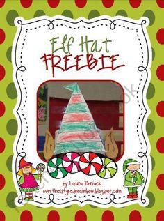 Elf Hat ~ FREEBIE product from Overthe1stGradeRainbow on TeachersNotebook.com