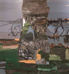 Andreas Eriksson, Tree Trunk - 2013 - Acrylic and oil on canvas - 300 x 280cm Found on stephenfriedman.com