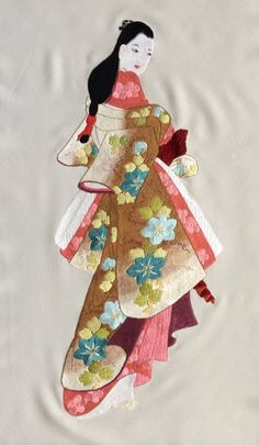 The Beauty of Japanese Embroidery - Embroidery Patterns Hand Embroidery Patterns, Embroidery Thread, Embroidery Designs, Thread Painting, Japanese Embroidery, Wire Weaving, Geometric Designs, Types Of Art, Craft Patterns