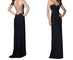 Black Sequin Beading Illusion Straps Formal Dress Open Back Long Sparking Formal Dress Sexy Illusion Back Dazzling Evening Dress