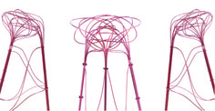 Wire, abstract stools