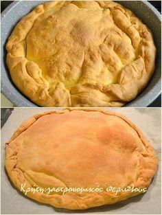 Εύκολο και για αρχάριους/ες! Η συνταγή της ζύμης είναι στο παλιό μου τετράδιο, άρα από τις πρώτες που χρησιμοποίησα για πίτες φούρνου. Είναι ένα είδος ανεβατής ζύμης που έχω κατά καιρούς χρησιμοποιήσει σε πολλές συνταγές.  Αυτό που άλλαξα αυτή τη φορά είναι ο τρόπος ανοίγματος, επηρεασμένη από διάφορα sites … Gf Recipes, Greek Recipes, Dessert Recipes, Cooking Recipes, Filo Recipe, Phyllo Dough Recipes, Cypriot Food, Greek Pastries, Greek Cooking