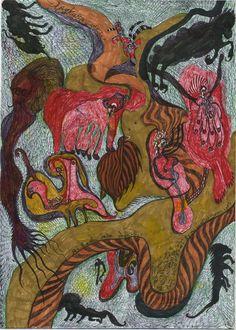 Emo Art, Grunge Art, Dark Art Drawings, Funky Art, Hippie Art, Outsider Art, Retro Futurism, Illustration Art, Illustrations