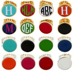 Adorable Monogram Rings! Perfect Gift - Fits all -