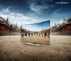 Samsung Curved UHD TV by Featherwax, via Behance