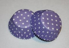 24 Wilton Lavender Polka Dot Cupcake Liners Purple Cupcake Papers Baking Cups Girl Birthday Party Supplies Baby Shower Bridal Shower