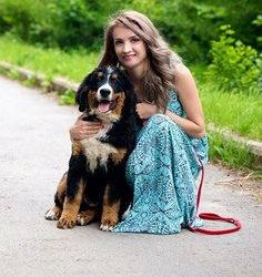 #bernesemountaindogspiritdream our baby Martin with him owner Mila (Kazachstan)
