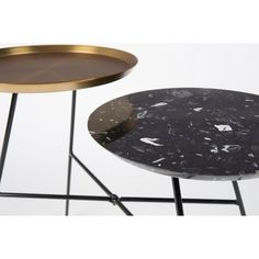 Table d'appoint design Indy black gold
