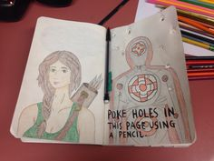 Wreck This Journal Page... Just need a hunger games quote to complete it #hungergames