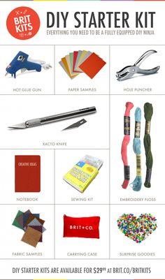 DIY Starter Kit - everything you need to start DIY'ing those Pinterest projects! $29.99
