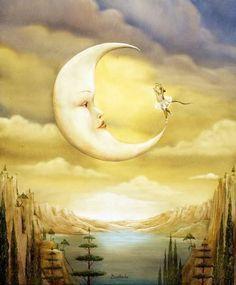 Dance avec la Lune, by Agnes Boullouche Sun Moon Stars, Sun And Stars, Moon Dance, Moon Shadow, Moon Pictures, Moon Pics, Moon Photos, Paper Moon, Good Night Moon