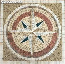 Mosaico Rosa de los vientos nº1 classic (90cm x 90cm)