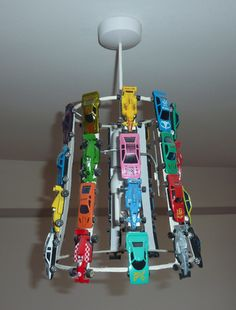 I'm thinking of using all my old hot wheels, maybe a little track lamp too! Usually I like my shit original, but thanks to pintrests I can take other peoples ideas & make them even better!