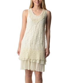 Loving this White Pleated Tier Shift Dress on #zulily! #zulilyfinds