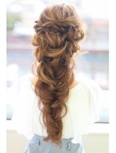 Really want to find the tutorial for this Wedding Hair And Makeup, Bridal Hair, Hair Makeup, Pretty Hairstyles, Braided Hairstyles, Wedding Hairstyles, Hair Dos, Fine Hair, Hair Designs