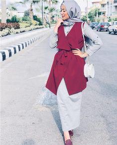 62 Ideas For Fashion Style Hijab Pants - Muslim Fashion Modern Hijab Fashion, Street Hijab Fashion, Hijab Fashion Inspiration, Muslim Fashion, Abaya Fashion, Hijab Style Dress, Hijab Outfit, Girl Hijab, Modele Hijab