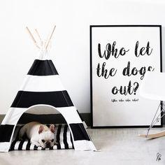 """Poster & Bilder - Plakat A4 / """"Who let the dogs out?"""" / Printable - ein Designerstück von sppiy bei DaWanda"""