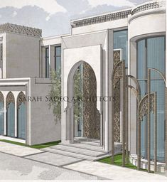 A new meaning for luxury , so where is that? And what's the reason behind that design ? Let's wait and see 5000 m plot soon by Sarah sadeq… Mosque Architecture, Neoclassical Architecture, Modern Architecture House, Modern House Design, Architecture Details, Classic House Exterior, Modern Farmhouse Exterior, School Building Design, House Outside Design