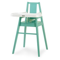 Zobo Summit Wooden High Chair - Rain
