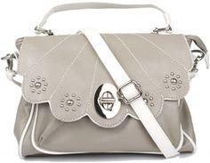 Grey Flowers Art Deco Bag